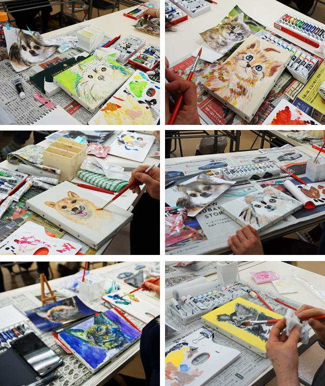 武井満寿美絵画教室かんたんペット画